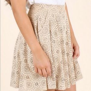 Altar'd State Tan Cutout Mini Skirt